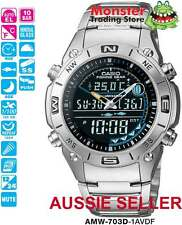 AUSIE SELLER CASIO AMW-703D-1 AMW703 AMW703D FISHING WATCH 12-MONTH WARRANTY