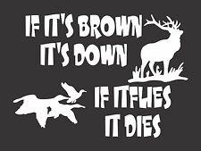 Hunting Deer Ducks - Die Cut Vinyl Window Decal/Sticker for Car/Truck