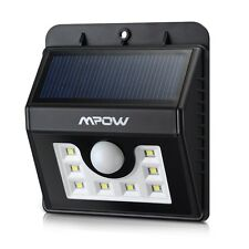 Mpow 8LED Solar Power Wireless Security Motion Sensor Light Outside wall Lamp US