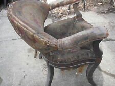 "ANTIQUE SMITH BROTHERS BARBER SHOP CHAIR UNRESTORED CONDITION 1860'S--""POPULAR"""