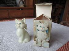 "Vintage Avon ""Blue Eyes"" Sweet Honesty Cologne - 1.5 oz Tabby Kitty Cat"