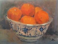 Marmalade Oranges Modern British Oil Painting by Deborah Sweeney (1956-)