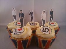 44 One Direction **WAFER** Edible Cupcake Cake Toppers Stand ups &  Discs