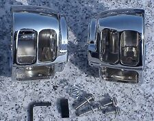 Harley Davidson Sportster Dyna Softail V-Rod CHROME SWITCH HOUSINGS