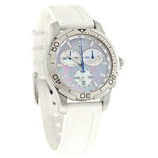Victorinox Swiss Army Alliance Chrono Ladies MOP White Rubber Watch 241352