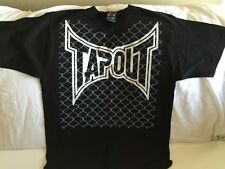 TAPOUT Chainlink Fence Black T-Shirt Size Large