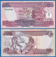 Solomon Islands 10 Dollars P 15 a ND(1986) UNC Low Shipping! Combine FREE! P-15a