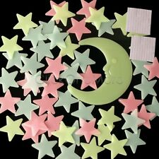 SG - Colourful Glow In The Dark Star Wall Sticker Kid Bedroom Nursery Room Decor