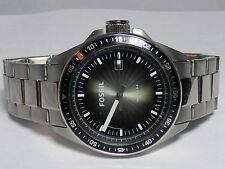 Fossil Watch Brushed Stainless Steel Divers Bezel - WORKS