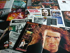 MEGADETH - MAGAZINE POSTER/CUTTINGS COLLECTION (REF X13C)
