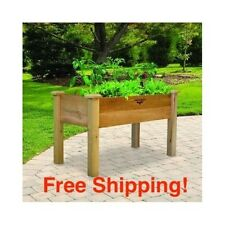 Elevated Garden Bed Raised Planter Flower Vegetable Cedar Wood Gardening Box