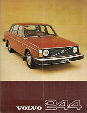 Volvo 244 1976-77 UK Market Leaflet Sales Brochure DL GL 240-Series