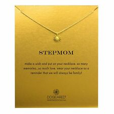 "Dogeared Stepmom Starburst Gold Dipped Reminder 16"" Boxed Necklace"