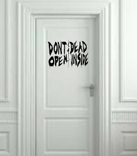 "Don't Open Dead Inside from The Walking Dead Wall Decal- Black (20"" X 10"")"