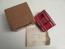 NOS Edwards Signaling 270A-SPO Fire Alarm Pull Station SPNO Wire Leads w/Box