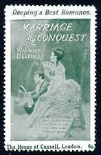 "England Poster Stamp - Advertising Romance Novel ""Marriage By Conquest"""