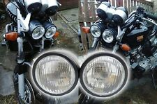 "4"" Black Dominator Motorcycle Headlight Dual Streetfighter Cafe Racer w/ Mount"