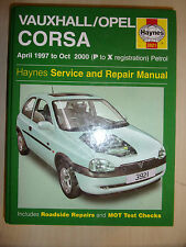 VAUXHALL CORSA HAYNES OWNERS REPAIR MANUAL PETROL Inc 16V & GLS 1997-2000 P-X