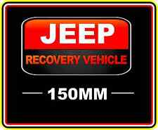JEEP RECOVERY VEHICLE STICKER DECAL 4WD OFF ROAD TRUCK FUNNY BUMPER STICKERS RED