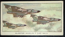 Gloster Javelin F (AW) MK.9 Royal Air Force Fighter  Illustrated  Card