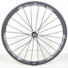 700C road bike wheelset 38mm Clincher Bicycle carbonzone white sticker Rear