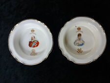 2 Royal Doulton Dishes Issued for Edward VII & Queen Alexandra 1902 Coronation