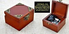 Vintage Classic Square Wooden Wind Up Music Box : Star Wars - The Force Theme