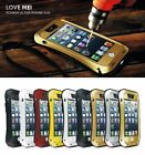 Aluminum Metal Love Mei Gorilla Glass Shock/Water Proof Case For iPhone4/4s/5/5S