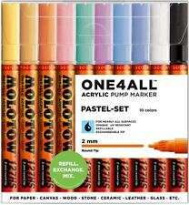 MOLOTOW ONE4ALL 127HS -10 PIECE DRAWING MARKER PEN SET - PASTEL COLOURS
