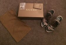 Beautiful Gucci Pewter Sandals Size 38 UK 5
