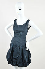 Louis Vuitton Navy Silk Blend Sleeveless Bubble Dress SZ 36