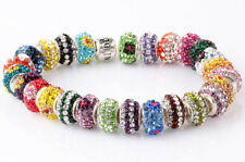 10PCS clay CZ Listing High Quality Crystals Beads European Charm Bracelet AA169