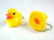 Novelty Cute LED Flash Light Duck Animal KEYRING Keyrings Party Bag Loot Kids