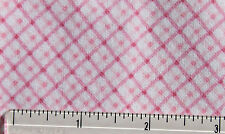 SNUGGLE FLANNEL *DIAGONAL PLAID CHECK PINK & WHITE*100% Cotton Fabric*BTY