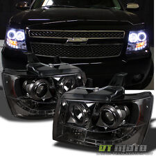 [Smoked Tint Lens] 07-14 Suburban Tahoe Avalanche Halo Projector Led Headlights