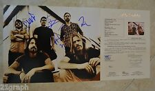 "Foo Fighters Signed 11x14 (ALL 5!) w/ ""Full Letter"" JSA LOA #Y45743 Dave Grohl"