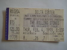TICKET ROLLING STONES CONCERT DELTA CENTER SALT LAKE CITY UT USA 4/02 1999 MUSIC