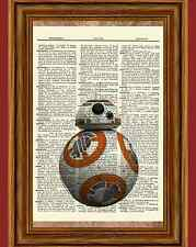 BB-B Star Wars Dictionary Art Print Book Picture Poster Gift VII Force Awakens