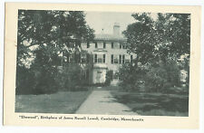 Cambridge MA Elmwood James Russell Lowell Birthplace Vintage Postcard