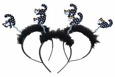Halloween 3 X Head Band, Banda De Pelo Deeley Boppers Brujas Gatos oropel Fancy Dress