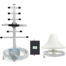 3G 65dB 850 1900MHz Cell phone Signal Booste GSM Repeater Amplifier+Yagi Antenna