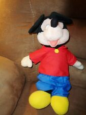 "Mickey Mouse Applause 14763 Standing 17"" VTG stuffed plush red cotton shirt RARE"