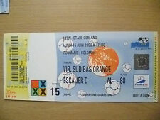 1998 World Cup Tickets Stubs- ROMANIA v COLOMBIA 15. June, Match- 15 (Org,Exc*)