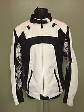 Scorpion EXO Women's Motorcycle Jacket - Size Large - Black & White w/ Flowers