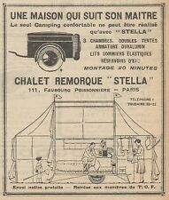 Z9017 Chalet Remorque STELLA -  Pubblicità d'epoca - 1928 Old advertising