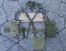 WW2 BRITISH KG3 GREEN D-DAY BASIC WEB SET - WEBBING PATT 1937 GRADE 1