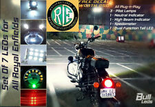 Bull-LEDs ✓ PILOTS HEADLIGHT BRAKE NEUTRAL SPEEDO 7 LEDS SET ROYAL ENFIELD