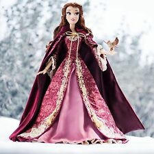 """DISNEY STORE EXCLUSIVE LE BEAUTY AND THE BEAST 17"""" WINTER BELLE DOLL CHRISTMAS"""
