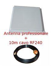 ANTENNA a pannello 17dBi WIFI 2.4GHz WIRELESS WI-FI + 10m cavo rp-sma plug