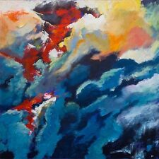 """SUPERB ORIGINAL BRYONY HARRISON """"Forest Fire II - Smokescreen"""" ABSTRACT PAINTING"""